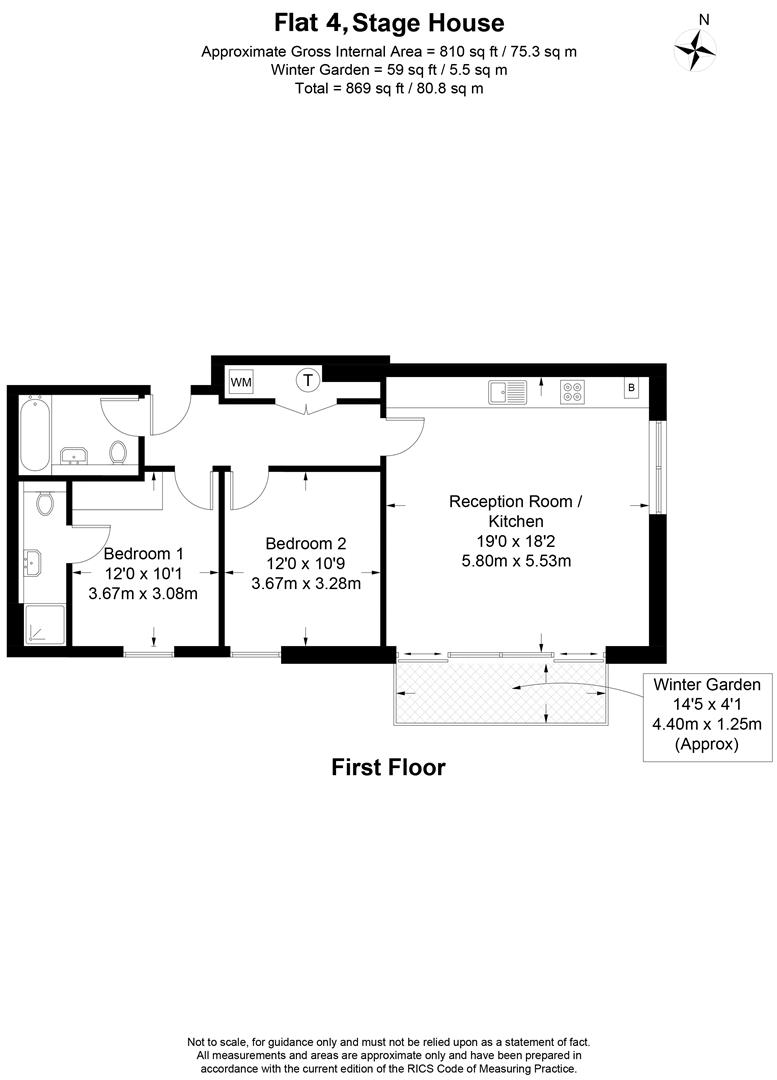 Floorplan for Stage House, Griffiths Road, Wimbledon